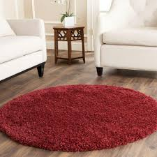 safavieh california shag maroon 4 ft x 4 ft round area rug sg151