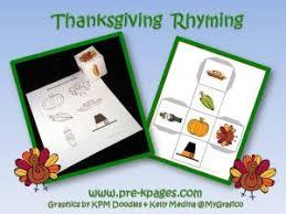 thanksgiving literacy thanksgiving kindergarten and rhyming