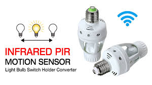 Infrared Led Light Bulb by Infrared Pir Motion Sensor Light Bulb Switch Holder Converter