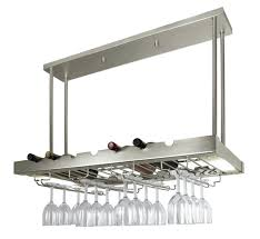 rack ceiling wine rack lighted hanging with glass storage