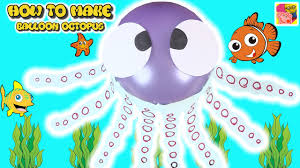 learn how to make a balloon octopus diy craft ideas for kids