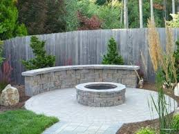 Firepit Pavers Interlocking Paver Surround With Custom Pit And Seating