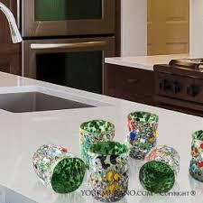 bicchieri verdi set bicchieri in vetro di murano originali yourmurano