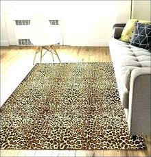 Leopard Area Rugs Walmart Leopard Area Rugs Amazing Animal Print The Home Depot Within