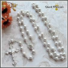 wedding rosary mix usd12 free shipping catholic 6mm silver brass rosary necklace