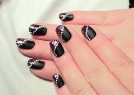 design selber machen matt glitter nageldesign für kurze nägel zum selber machen