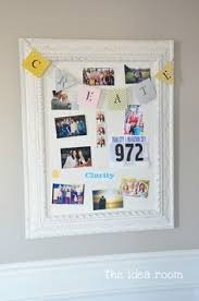 diy make your own bulletin board by replacing an old mirror with
