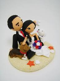 beach theme custom wedding cake topper e10261624442414007m