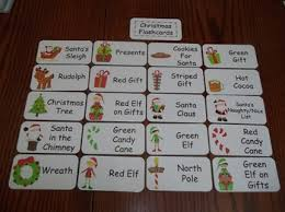 20 laminated christmas flash cards preschool picture word card