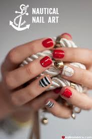 ahoy sailor u2013 nautical nail art by bio sculpture nail romance
