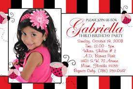 Barbie Birthday Invitation Cards Ladybug Invitations Photo