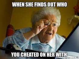 Cheater Meme - image jpg