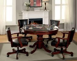 dining room poker table furniture of america chestnut proctor poker table