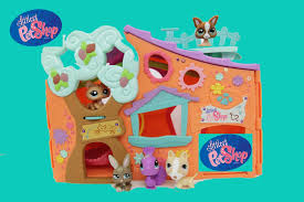 littlest pet shop lps clubhouse club tree house hasbro review