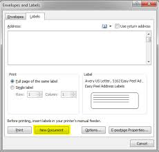 creating a mail merge template for labels