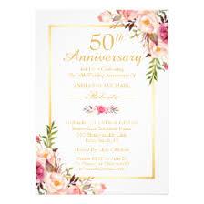 50th wedding anniversary program 50th wedding anniversary invitations zazzle