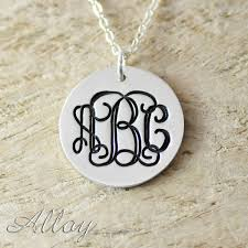 Circle Monogram Necklace Aliexpress Com Buy Alloy Necklace Custom Circle Monogram