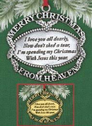 merry from heaven ornament and card carolwrightgifts