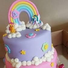my little pony cake with 3d rainbow girls birthday cakes