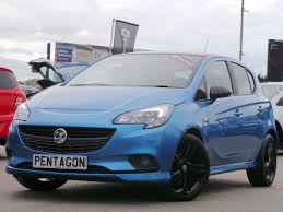 opel corsa 2016 used vauxhall corsa limited edition blue cars for sale motors co uk
