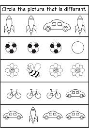 same and different worksheets for kids activity shelter