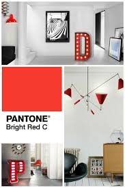 mood board a passionate home decor with bright red