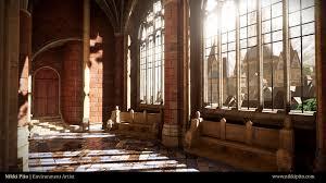 artstation gothic hallway nikki pito