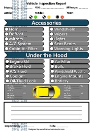 Vehicle Inspection Report Template Free by 5 Free Vehicle Inspection Forms Modern Looking Checklists For