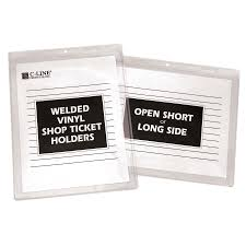 amazon com c line stitched shop ticket holders both sides clear