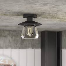 Flush To Ceiling Light Fixtures Flush Mount Lighting You Ll Wayfair