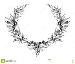 laurel wreath vintage baroque frame border monogram floral