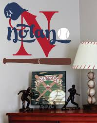 Sports Decals For Kids Rooms by Baseball Name Decal Sports Wall Decal For Boy Baby Nursery Or