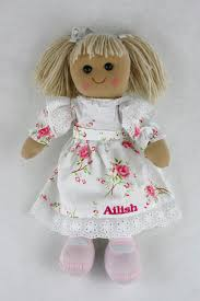 flower girl doll gift personalised flower girl ragdoll made for you made for you
