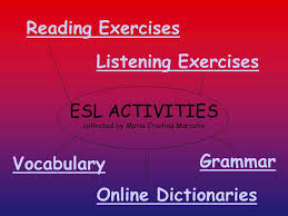 esl activities collected by maria cristina marcolin reading