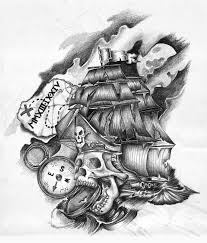 skull and ship tattoo designs in 2017 real photo pictures