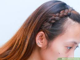 hair braid across back of head how to braid short hair with pictures wikihow