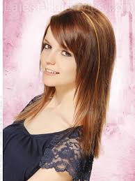 hairstyles short on an angle towards face and back tapered straight hair from another angle bangs layered face