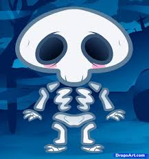 how to draw a skeleton for kids step by step halloween seasonal
