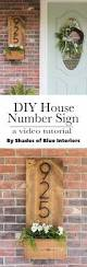 diy house number sign how to make one from 2 boards and give a