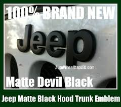 jeep black emblem jeep matte black metal truck emblem badge front rear