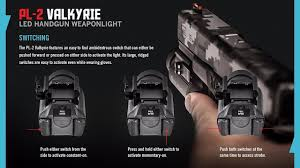 amazon com olight pl2 pl 2 valkyrie 1200 lumen led pistol light