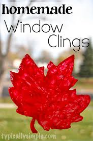 diy window clings typically simple