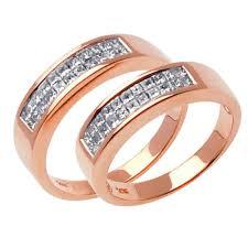 Rose Gold Wedding Ring Sets by 1 00ct Tcw 18k Rose Gold His U0026 Her Ring Set 9006420 Shop At