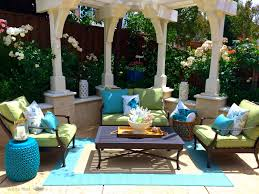 my new backyard summer green and blue oasis from homegoods target