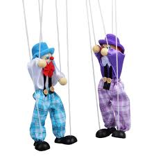 string puppet 1 pc kids classic wooden clown pull string puppet vintage