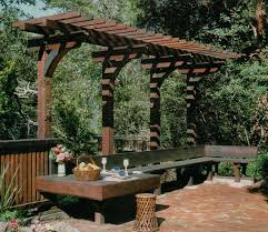 Pergola Free Plans by Overhang Pergola Nice Seating Area Repinned By Normoe The Backyard