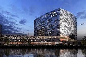 mecanoo design dramatic diamond inspired hilton at amsterdam