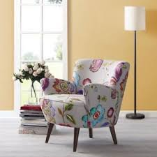 Stylish Living Room Chairs Floral Cotton Accent Arm Chair Stylish Living Room