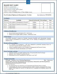 resume format exle resume patterns for freshers stuva templates