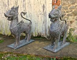 foo lions for sale pair of large bronze thai temple guardian foo lion dogs for sale